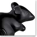 Lalique Mouse Sculpture, Black