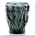 """Lalique Bacchantes Grey 9 1/2"""" Vase"""