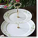 Belleek Shamrock Two Tier Cakestand