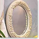 Belleek China Lily of The Valley Mop Mirror, 8 1/2 x 10 1/2""