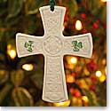Belleek China Saint Patricks Cross Ornament