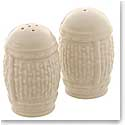 Belleek China Galway Weave Salt and Pepper Set
