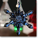 Baccarat 2016 Snowflake Ornament, Blue