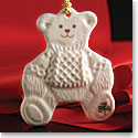 Belleek China Teddy Bear Ornament
