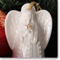 Belleek China Angel With Gold Star Bell Ornament