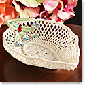 Belleek China Forget Me Not Basket