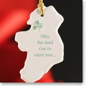 Belleek China Ireland Ornament - May The Road Rise To Meet You