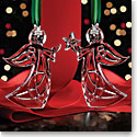 Cashs Crystal 2016 Angel Ornaments, Set of Two