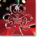 Cashs Crystal 2017 Shamrock Christmas Ornament