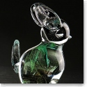 Cashs Art Glass Forty Shades of Green, Bunny Rabbit Paperweight