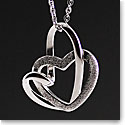 Cashs Sterling Silver Two Hearts Pendant Necklace