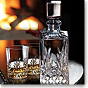 Cashs Crystal Annestown Single Malt Whiskey Tasting Set, Decanter, Pair of Whiskey Glasses