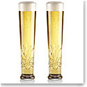 Cashs Crystal Annestown Lager Beer Glasses, Pair