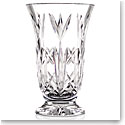 "Cashs Crystal 10"" Bellflower Footed Bouquet Vase"