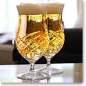 Cashs Crystal Brewers Ale Beer Glasses, Pair