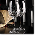 Cashs Crystal Celtic Ring Cabernet Merlot Wine Glasses, Pair