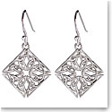 Cashs Sterling Silver Trinity Knot Diamond Fishhook Pierced Earrings