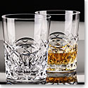 Cashs Crystal Celtic Ring DOF Single Malt Whiskey Glass, Pair