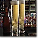 Cashs Ireland, Cooper Lager Crystal Beer Glasses, Pair