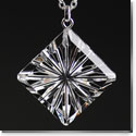 Cashs Crystal Diamond Newgrange Pendant Necklace, Medium