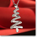 Cashs Sterling Silver and Pave Festive Christmas Tree Pendant Necklace