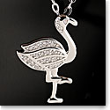 Cashs Sterling Silver Pave Flamingo Necklace