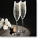 Cashs Crystal Grand Cru Vintage Champagne Toasting Flutes, Set of Four