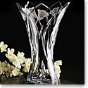 Cashs Crystal Art Collection Yellow Marsh Marigold Vase, Limited Edition
