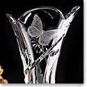 Cashs Crystal Art Collection, Monarch Butterfly Vase, Limited Edition