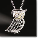 Cashs Sterling Silver and Gold Owl Pendant Necklace