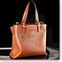 Cashs Top Grain Leather Cara Veau Cognac Handbag, Limited Edition