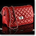Cashs Top Grain Leather Cooper Handbag, Red, Limited Edition