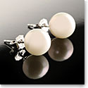 Cashs White Luster Pearl Stud Earrings, Pair