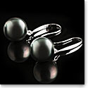 Cashs Tahitian Black Saltwater Perfect Round Pearl 12mm Earrings, Pair