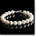 Cashs Akoya Perfect Round White Luster Seawater Pearl Bracelet