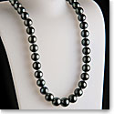 Cashs Tahitian Black Pearl Perfect Round Necklace