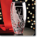 Cashs Crystal Art Collection, It's Time! Santa Vase, Limited Edition