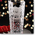 Cashs Crystal Art Collection, Santa Shhh! Vase, Limited Edition