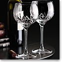 Cashs Crystal Shannon Balloon Red Wine Glasses, Pair