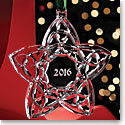 Cashs Crystal 2016 Celtic Trinity Star Ornament