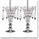 Cashs Crystal Art Collection, Georgian Teardrop Candleholders, Pair