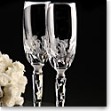 Cashs Crystal Art Collection Wedding Bouquet Flutes Pair, Limited Edition