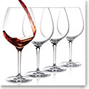 Cashs Crystal Wine Cru Pinot Noir Glasses, Set of Four