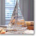 Waterford Clear Sailboat Paperweight