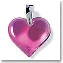 Lalique Amoureuse Beaucoup Heart Pendant, Fuchsia