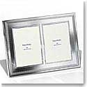 "Vera Wang Wedgwood Grosgrain 5x7 Double"" Vitation Frame"