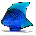 Lalique Ferrat Blue Fish Sculpture