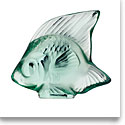Lalique Mint Green Fish Sculpture
