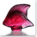 Lalique Red Fish Sculpture