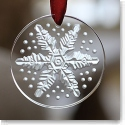 Lalique Annual 2013 Snowflake Christmas Ornament, Clear